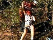 Насильник утащил девушку в лес