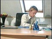 В офисе оттрахала клерка