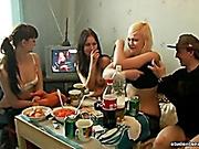 Русские студенты групповуха на квартире